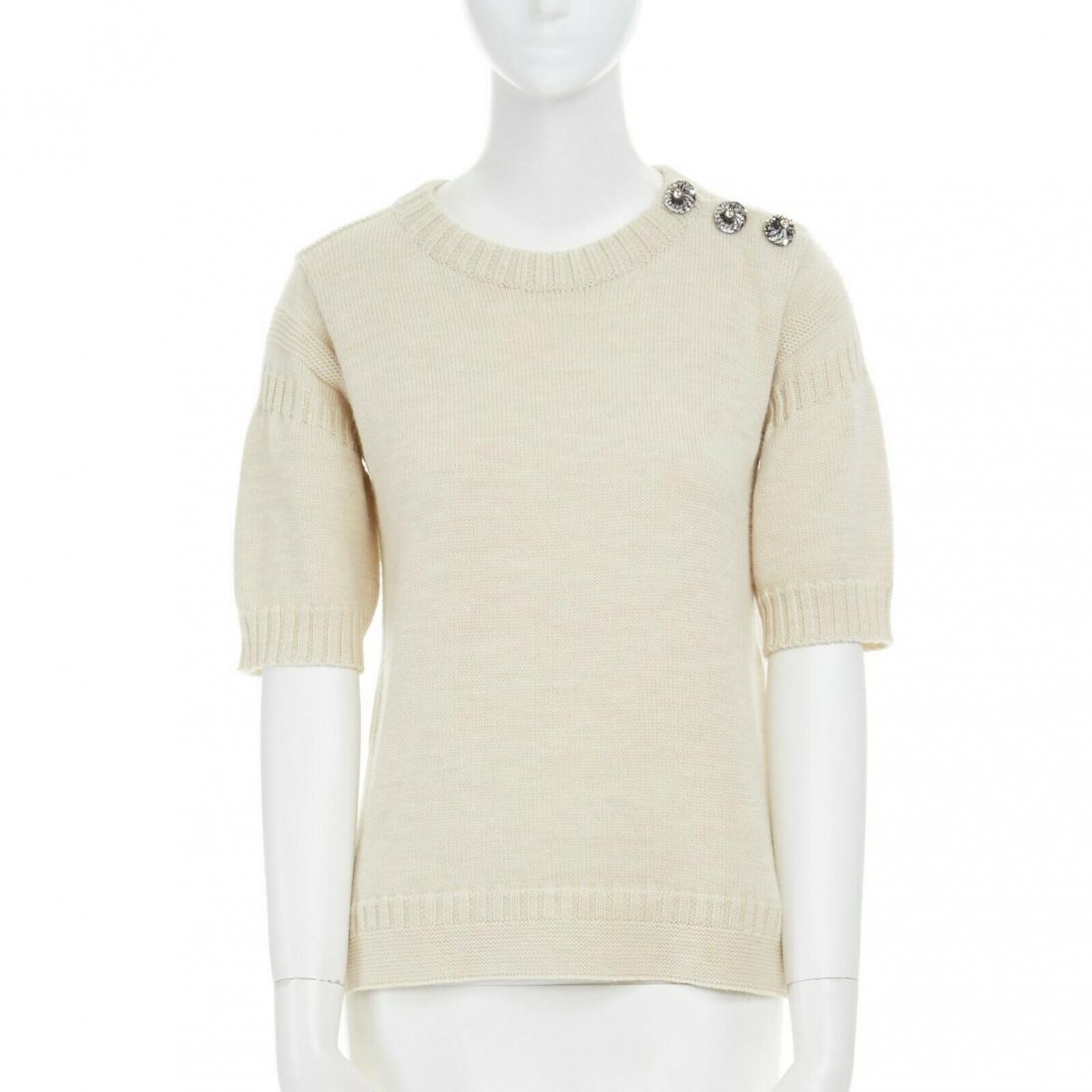 Louis Vuitton - Pull   pour femme en laine - beige