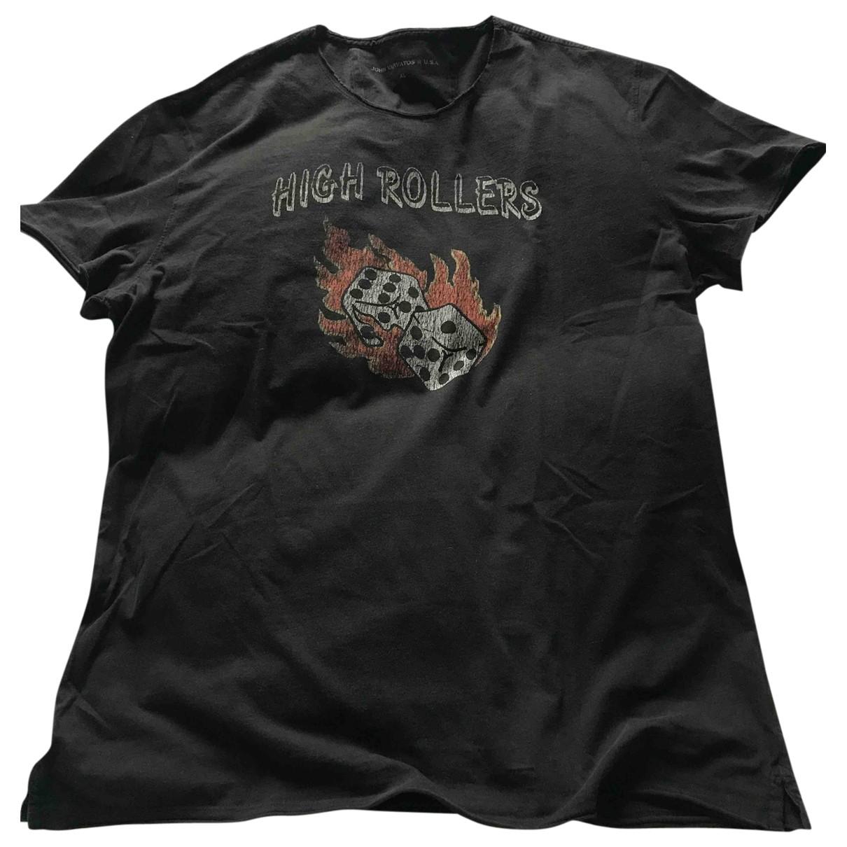 John Varvatos - Tee shirts   pour homme en coton - noir