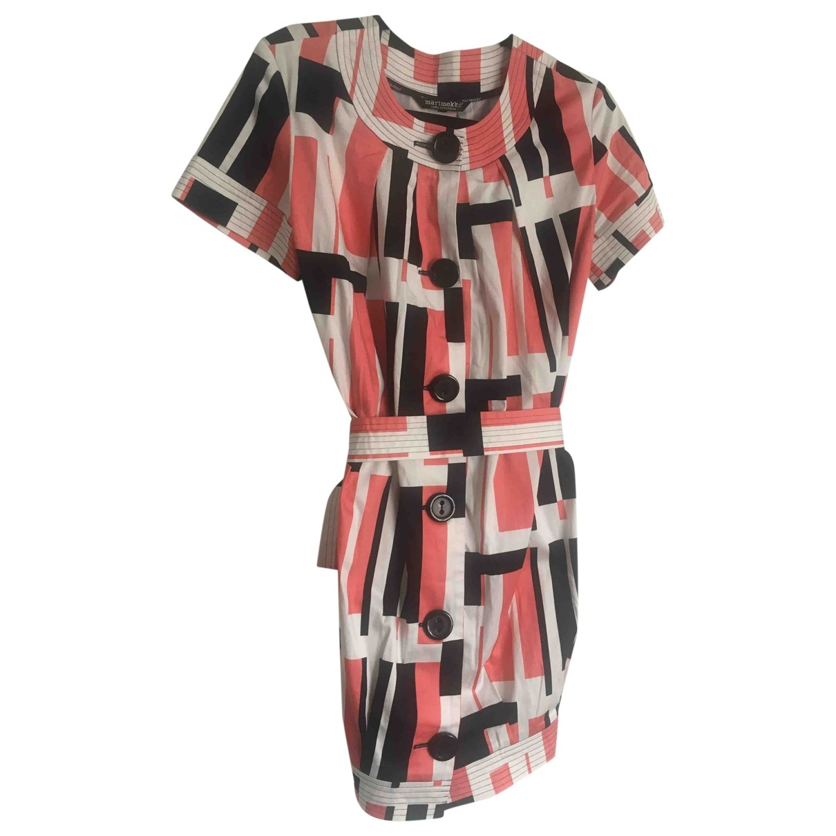 Marimekko \N Pink Cotton dress for Women 40 FR
