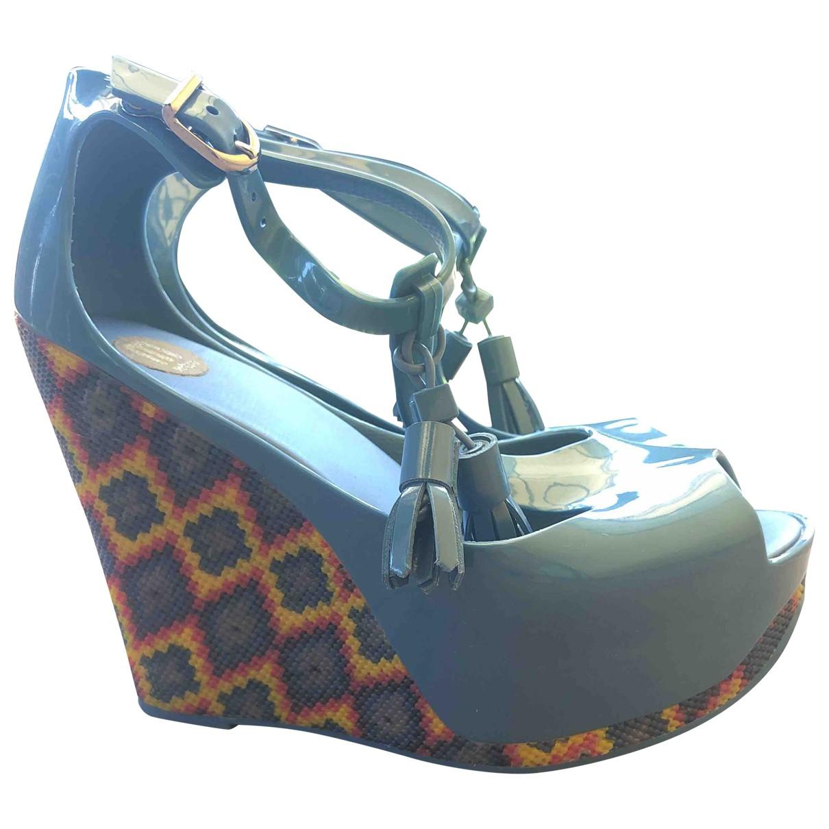 Melissa \N Blue Rubber Heels for Women 36 EU