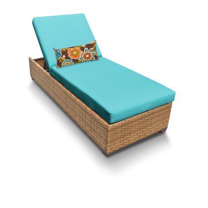 LAGUNA-1x-ARUBA Laguna Chaise Outdoor Wicker Patio Furniture with 2 Covers: Wheat and