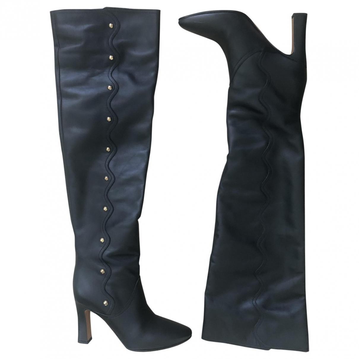 Chloe - Bottes   pour femme en cuir - noir