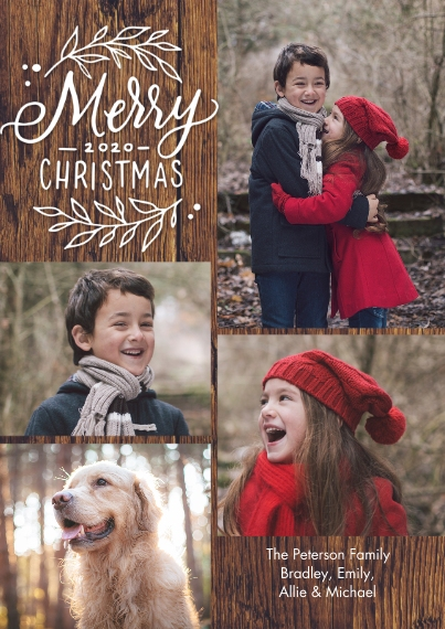 Christmas Photo Cards 5x7 Cards, Premium Cardstock 120lb, Card & Stationery -Christmas 2020 Collage by Tumbalina