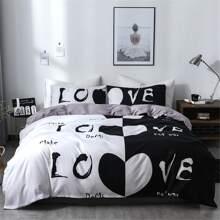Set de cama de dos colores sin relleno