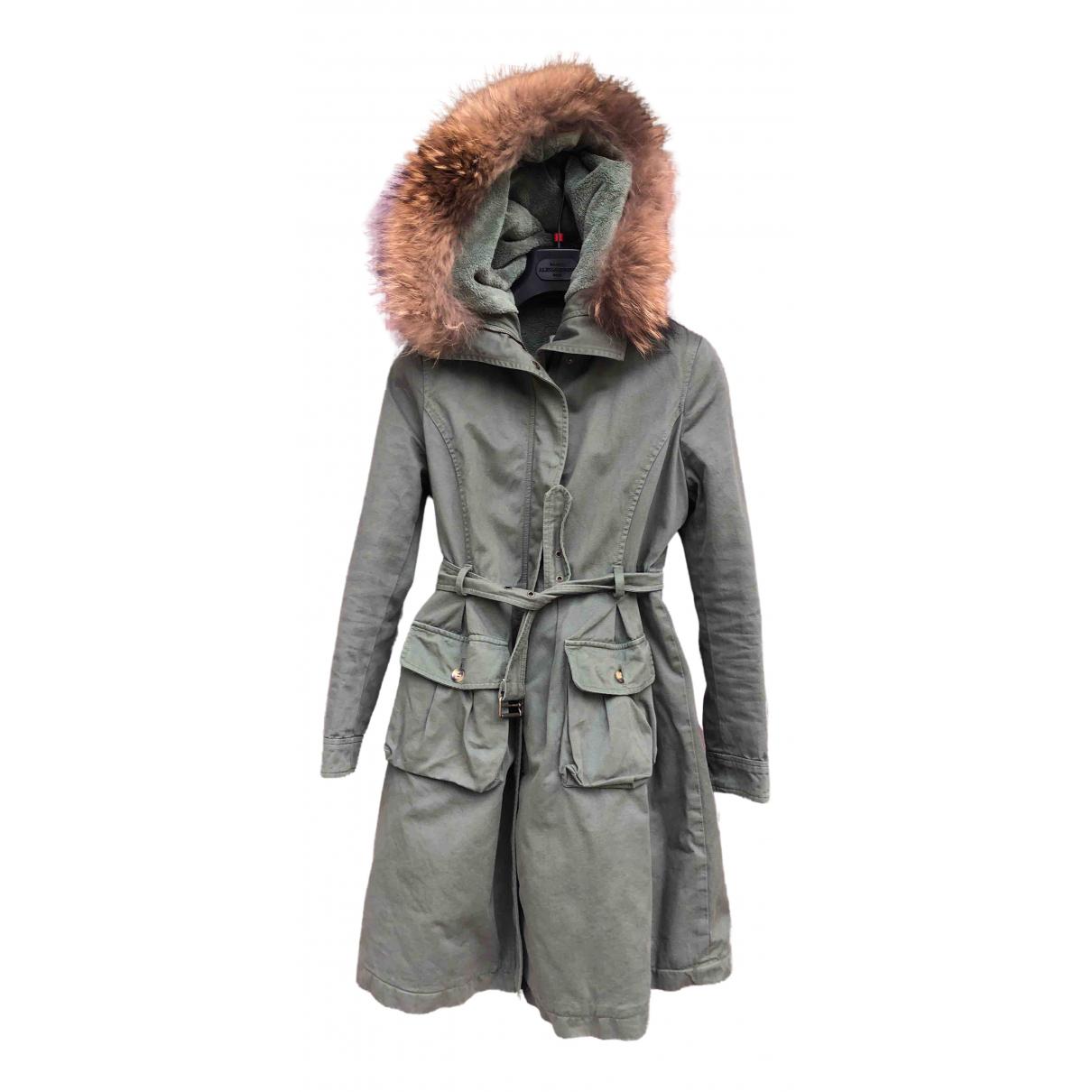 Ermanno Scervino - Blousons.Manteaux   pour enfant en coton - vert