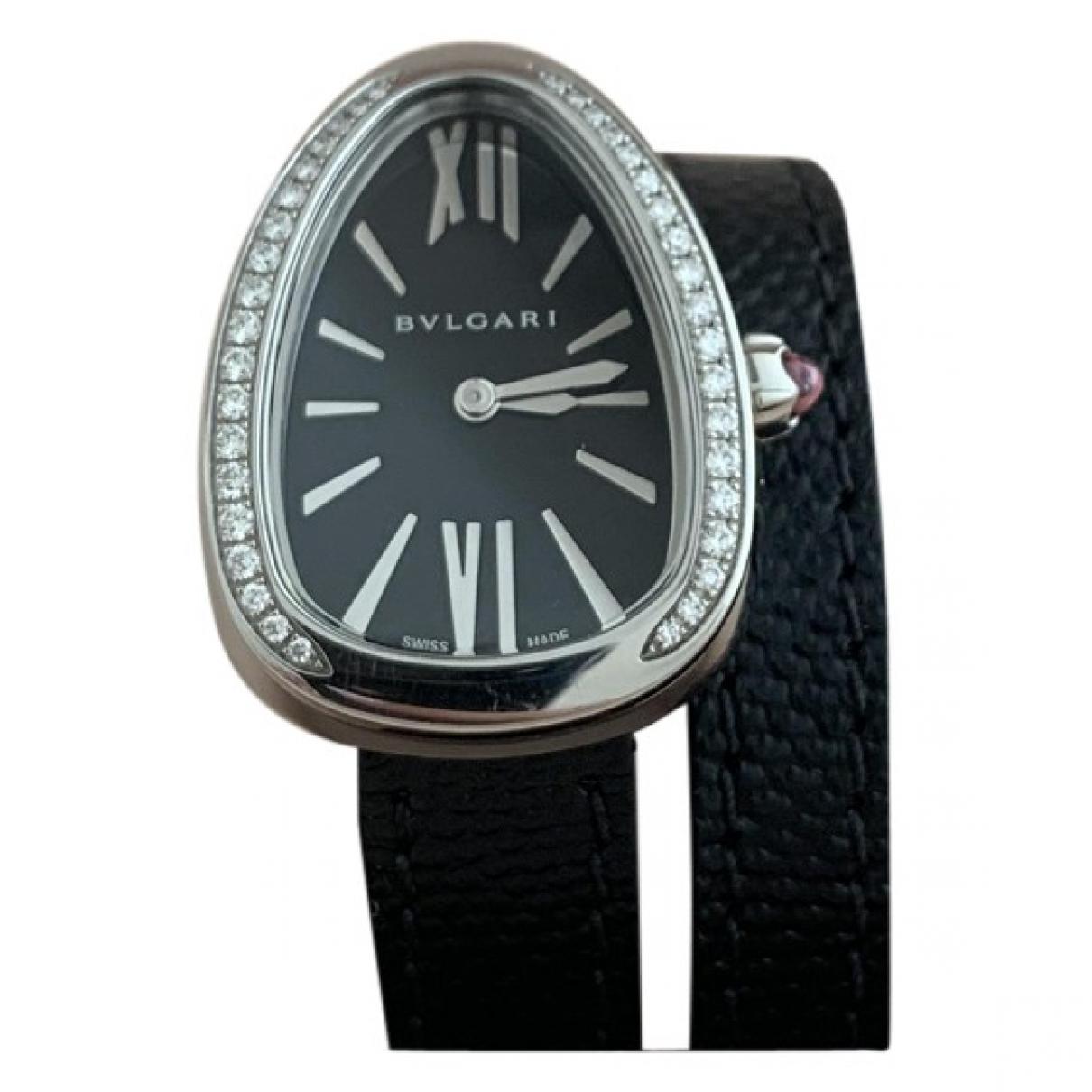 Bvlgari Serpenti Uhr in  Schwarz Stahl