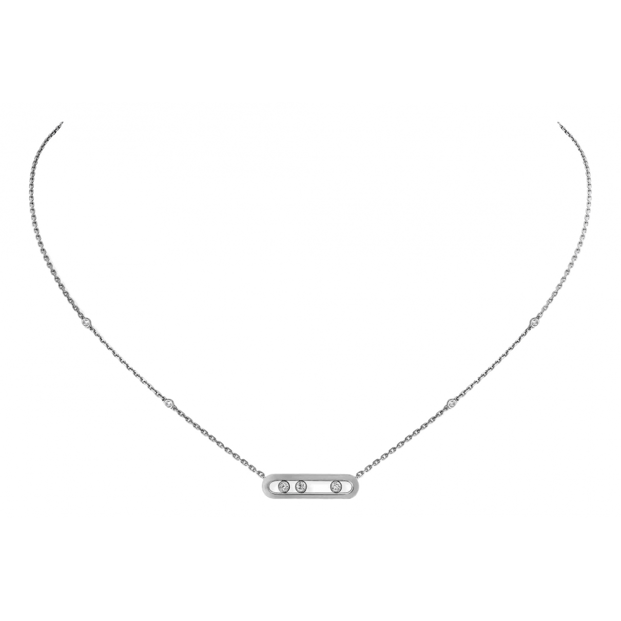 Messika Move Classique Kette in  Weiss Weissgold
