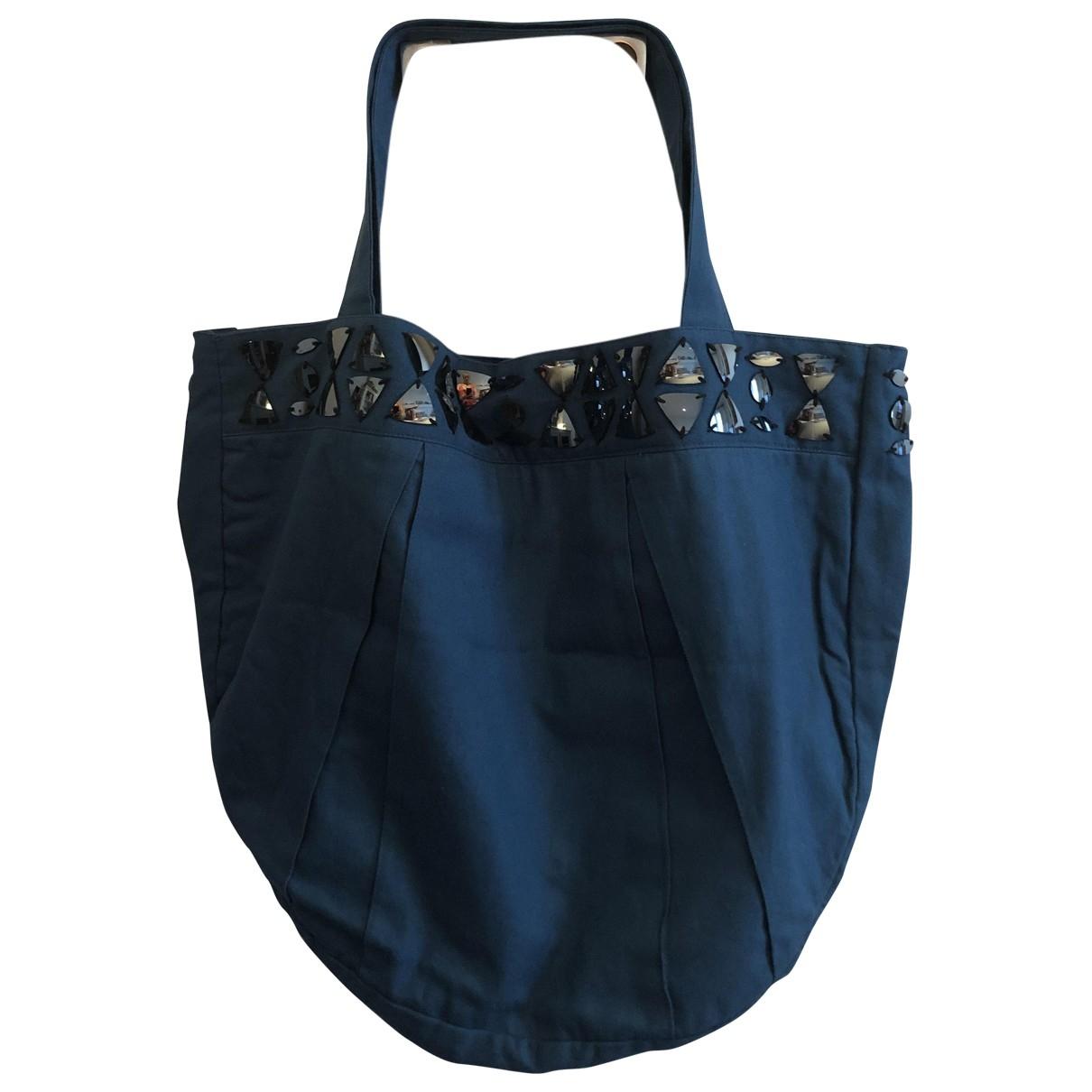Petite Mendigote \N Handtasche in  Blau Baumwolle