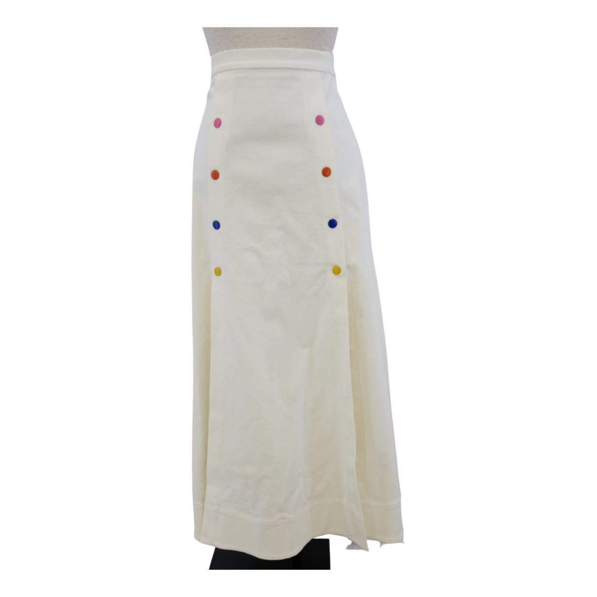 Saloni - Jupe   pour femme en coton - blanc