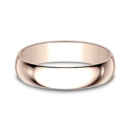 Mens 5mm 14K Rose Gold Wedding Band, 8 , No Color Family