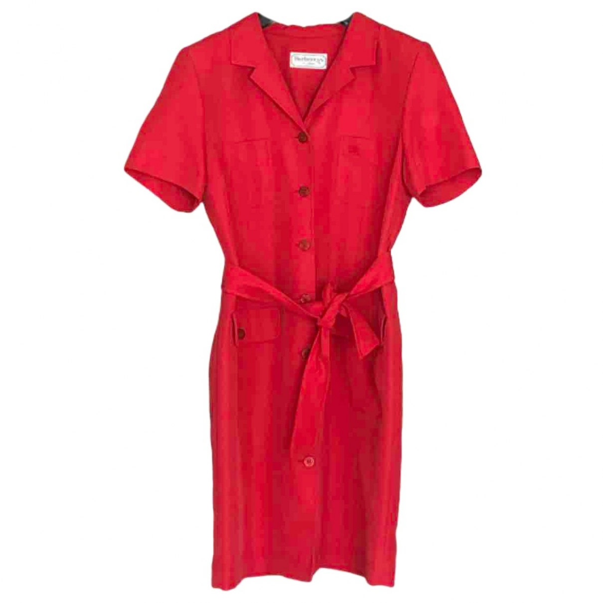 Burberry \N Kleid in  Rot Polyester