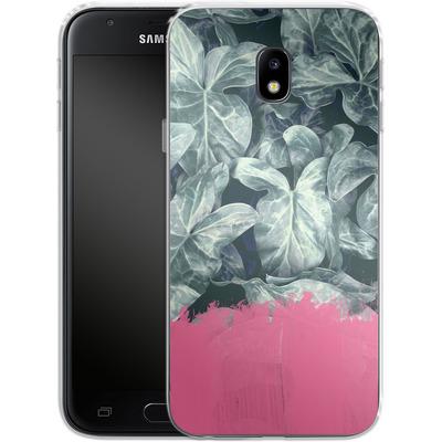 Samsung Galaxy J3 (2017) Silikon Handyhuelle - Sweet Pink on Jungle von Emanuela Carratoni