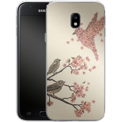 Samsung Galaxy J3 (2017) Silikon Handyhuelle - Blossom Bird von Terry Fan