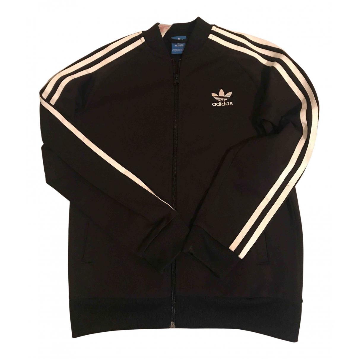 Adidas - Pull   pour enfant en coton - noir