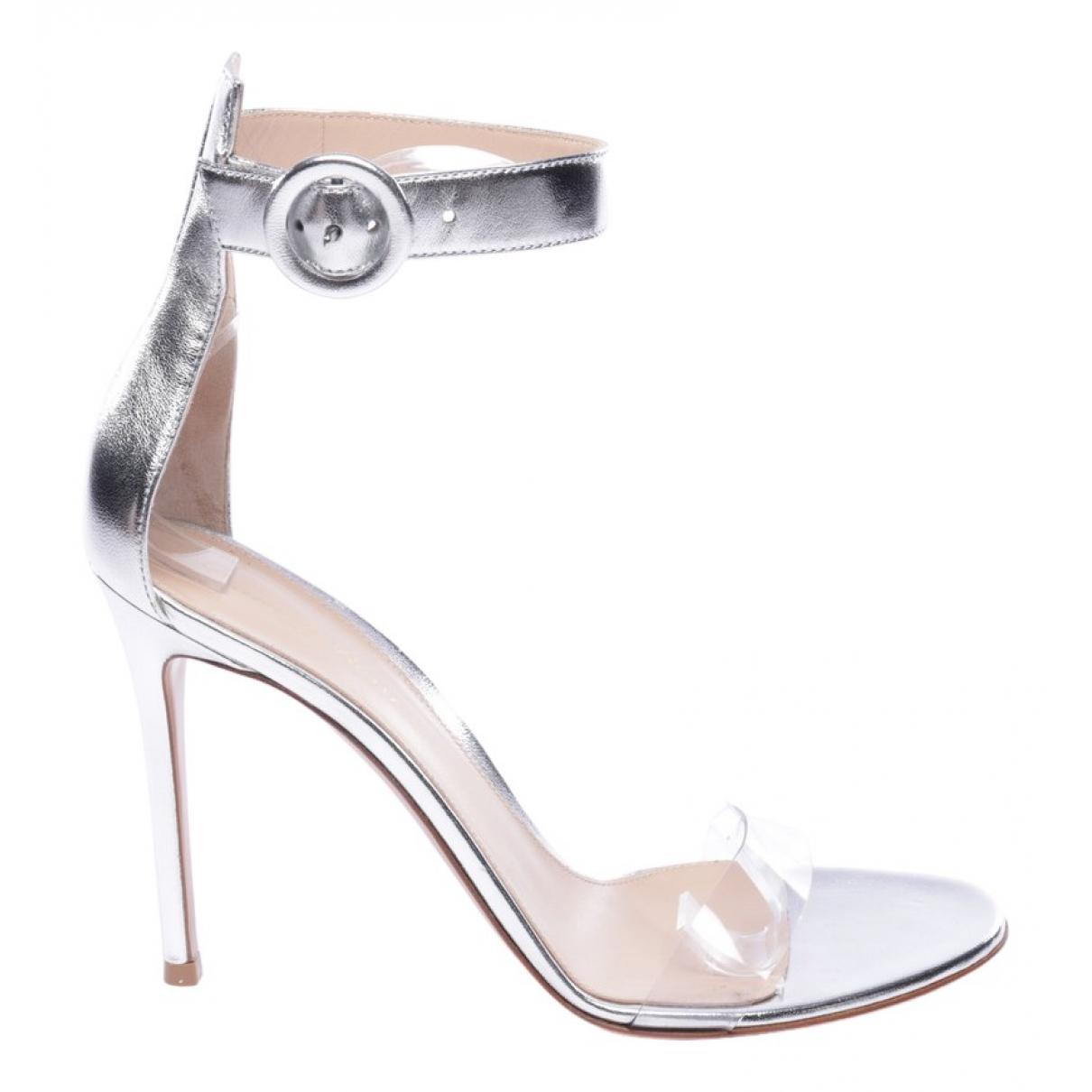 Gianvito Rossi - Sandales   pour femme en cuir - blanc