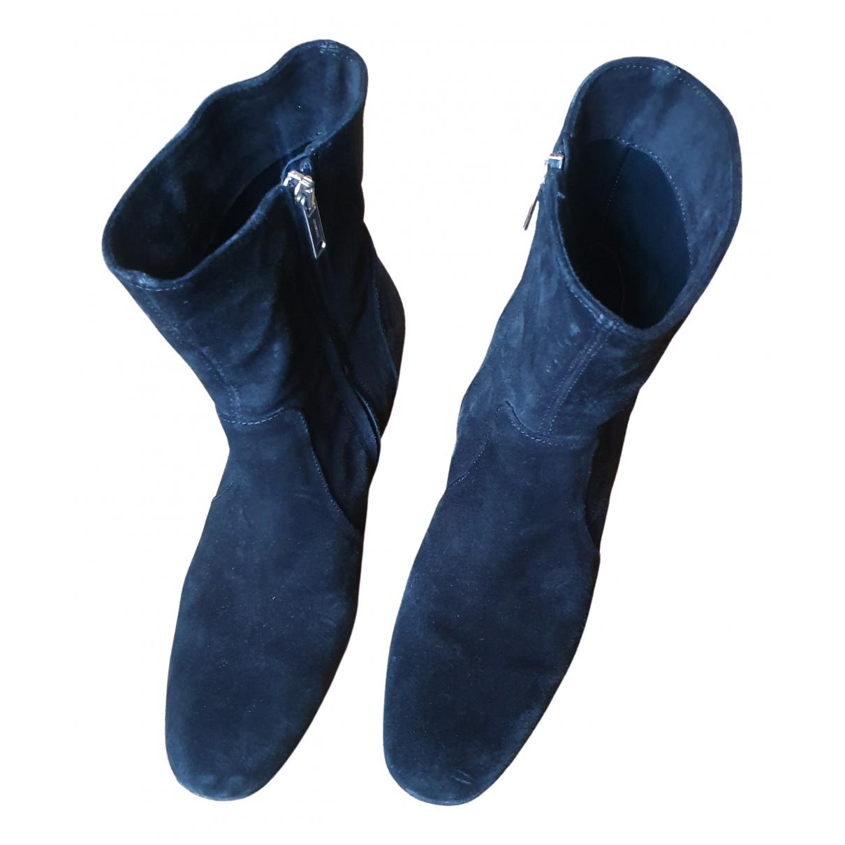 Dondup - Bottes   pour femme en suede - noir