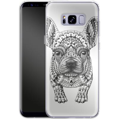 Samsung Galaxy S8 Plus Silikon Handyhuelle - French Bulldog von BIOWORKZ