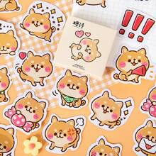 45pcs Cartoon Dog Print Sticker