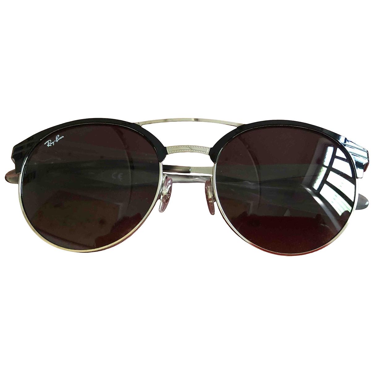 Ray-ban Round Sonnenbrillen in  Schwarz Metall