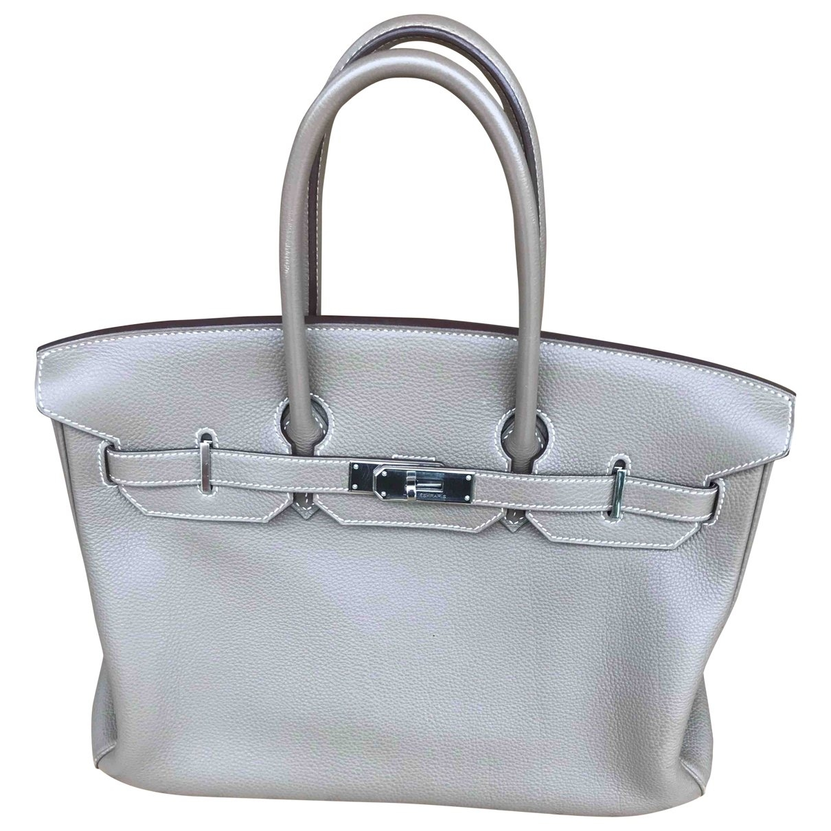 Hermès Birkin 35 Grey Leather handbag for Women \N