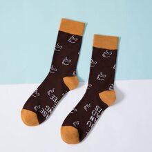 Socken mit Buchstaben Grafik