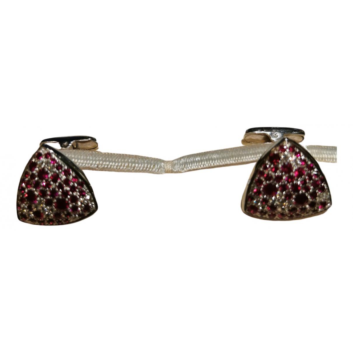 Brioni \N Grey Gold Cufflinks for Men \N