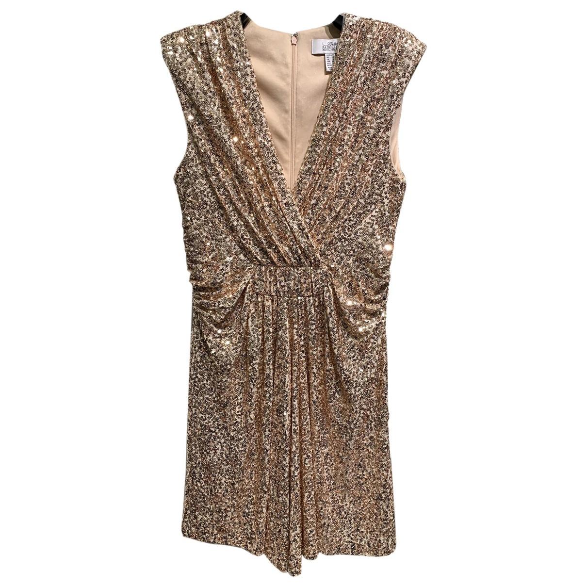 Badgley Mischka \N Kleid in  Rosa Polyester