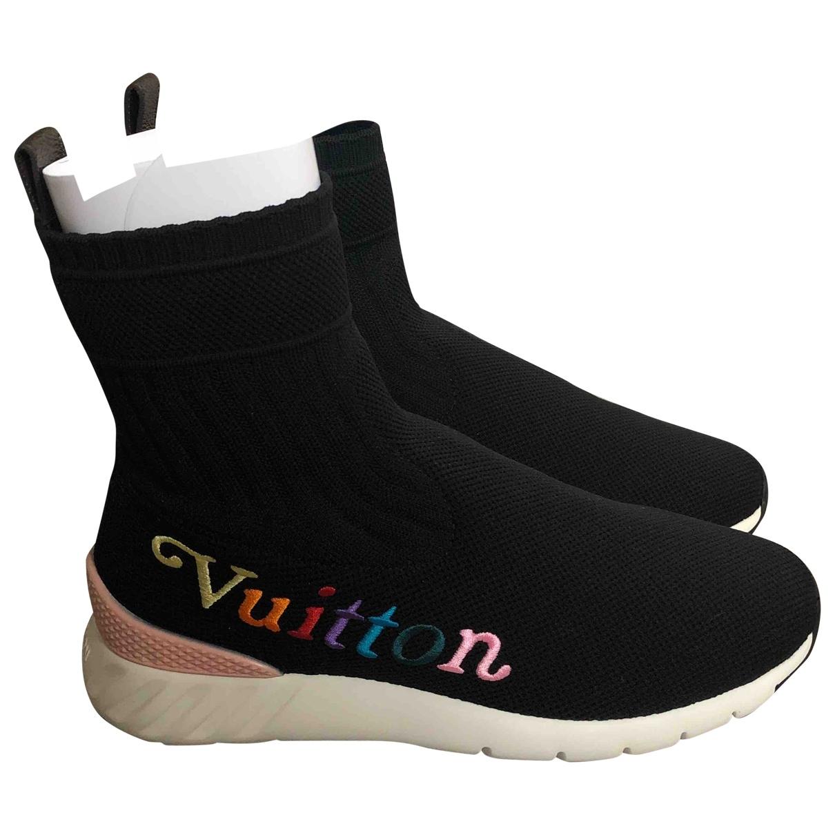 Louis Vuitton Montant Aftergame Sneakers in  Schwarz Leinen