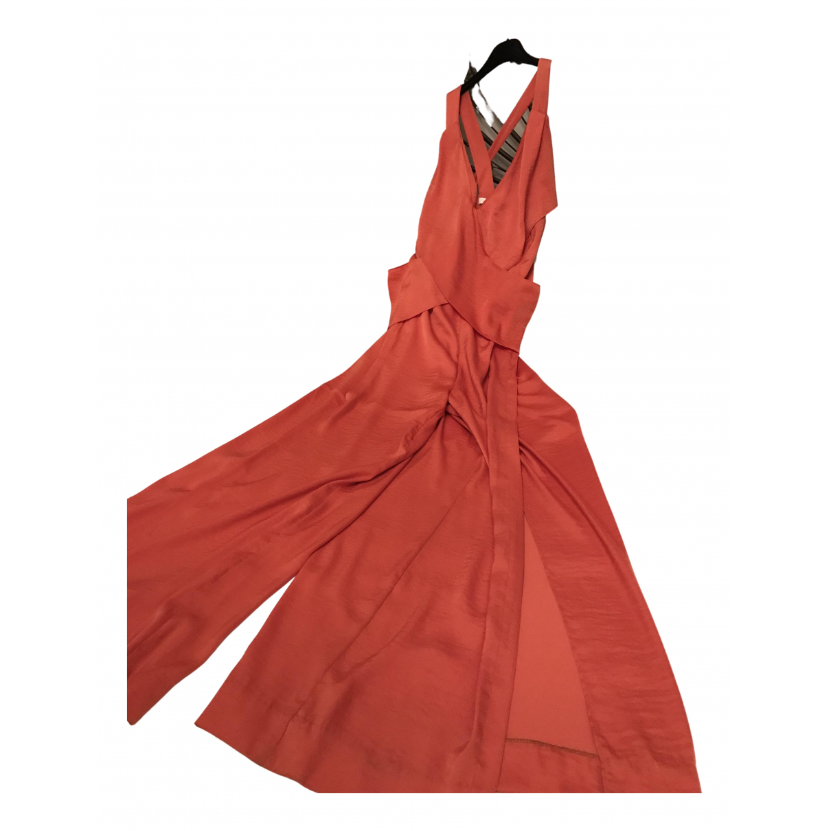 Hoss Intropia N Orange Silk jumpsuit for Women 42 FR