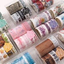 1 Set Zufaelliges dekoratives Klebeband mit vermischtem Muster