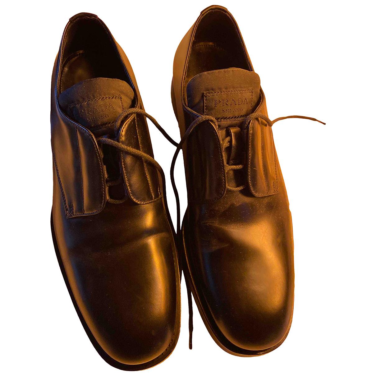 Prada N Black Leather Lace ups for Men 8 US