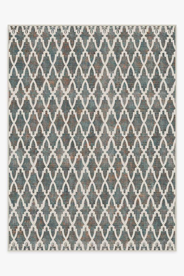 Washable Rug Cover & Pad | Soraya Trellis Multicolor Rug | Stain-Resistant | Ruggable | 9'x12'