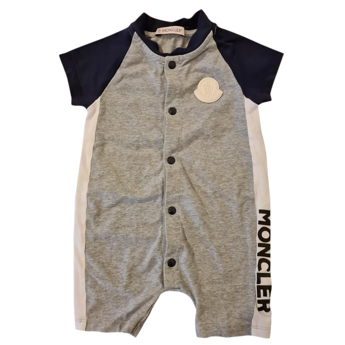 Moncler - Les ensembles   pour enfant en coton - gris