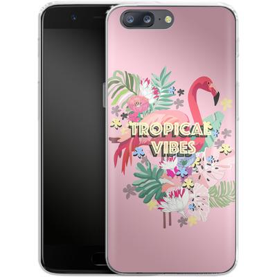 OnePlus 5 Silikon Handyhuelle - Flamingo Solo von Mukta Lata Barua