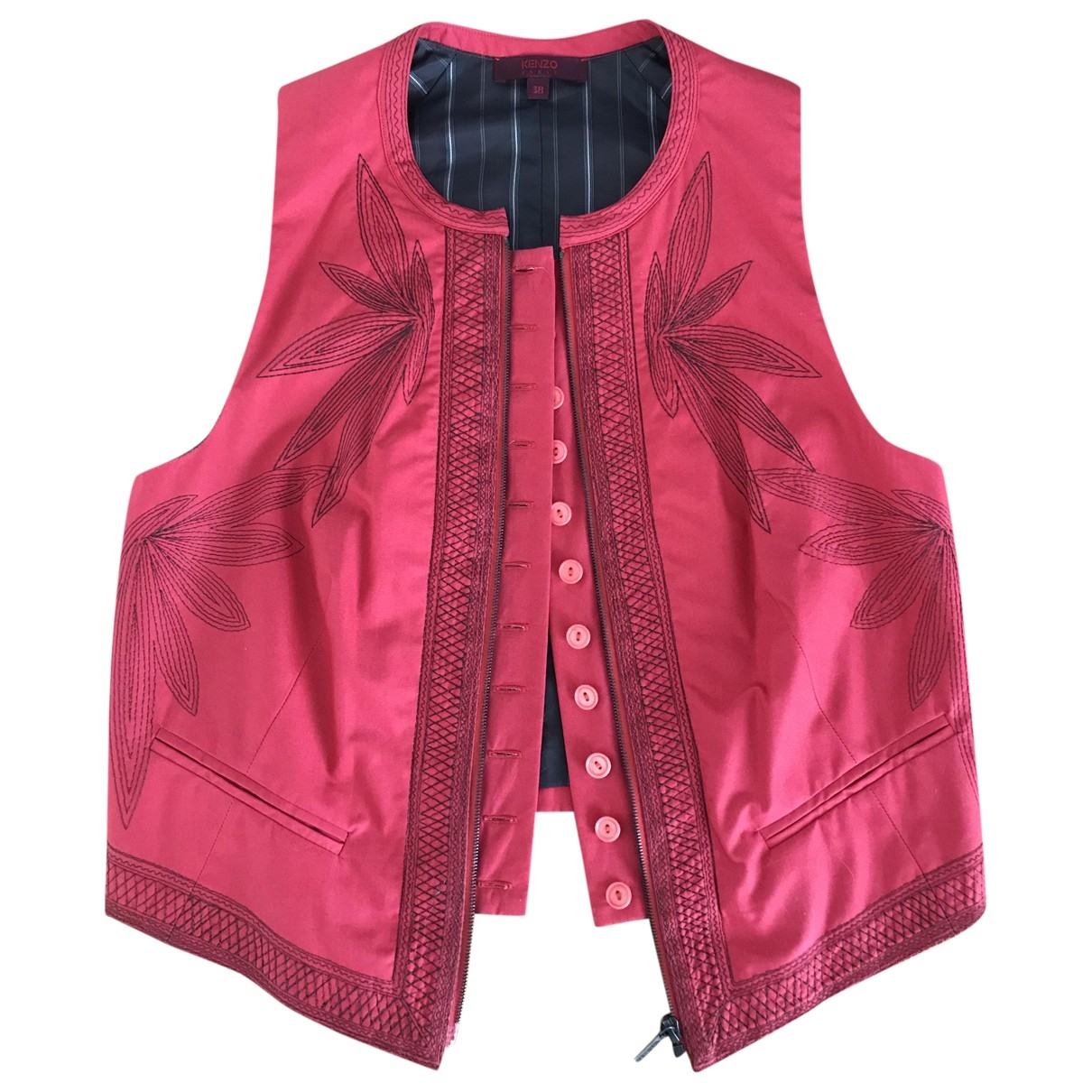 Kenzo \N Red Cotton jacket for Women 38 FR