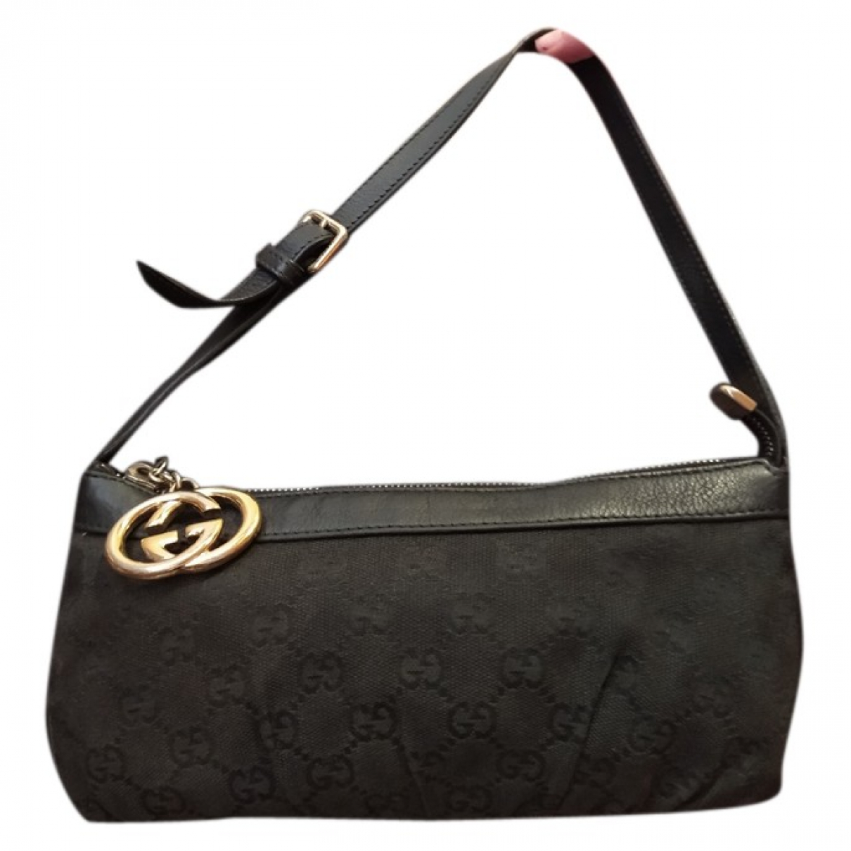 Gucci \N Clutch in  Schwarz Leinen