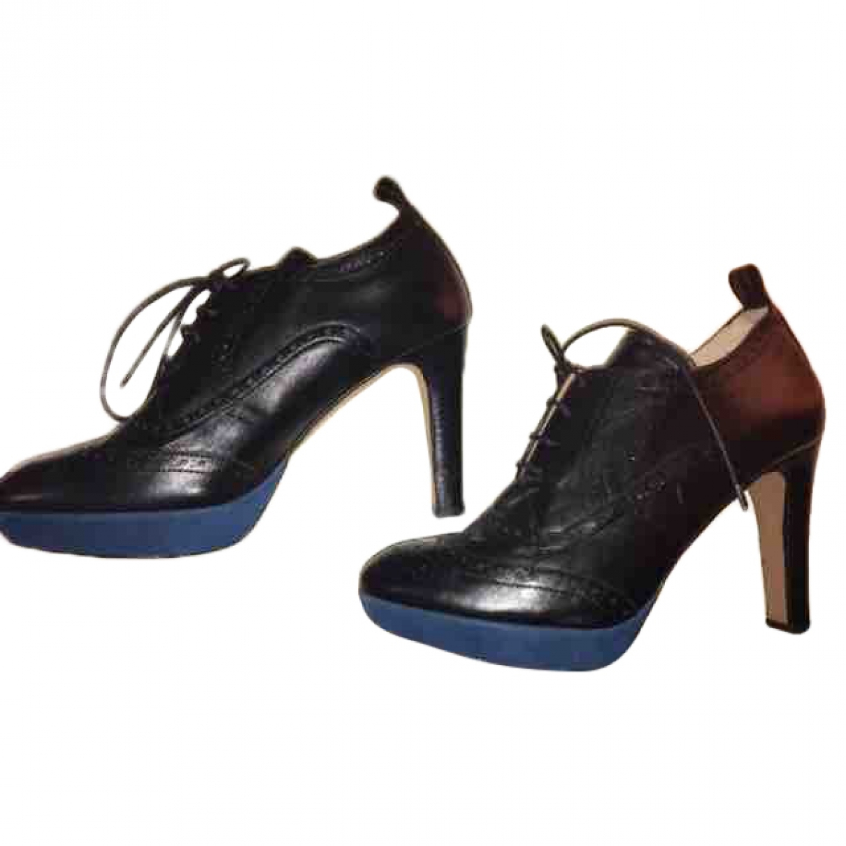 Mellow Yellow \N Black Leather Heels for Women 40 EU