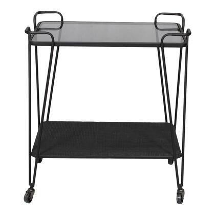 Fielding Collection TY-1036-02 Bar Cart with Iron Frame in Black