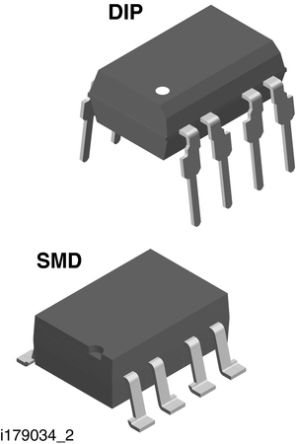Vishay , VO1263AB MOSFET Output Optocoupler, Through Hole, 8-Pin DIP (50)