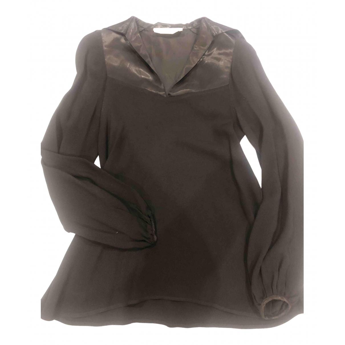Ossie Clark - Top   pour femme en soie - noir