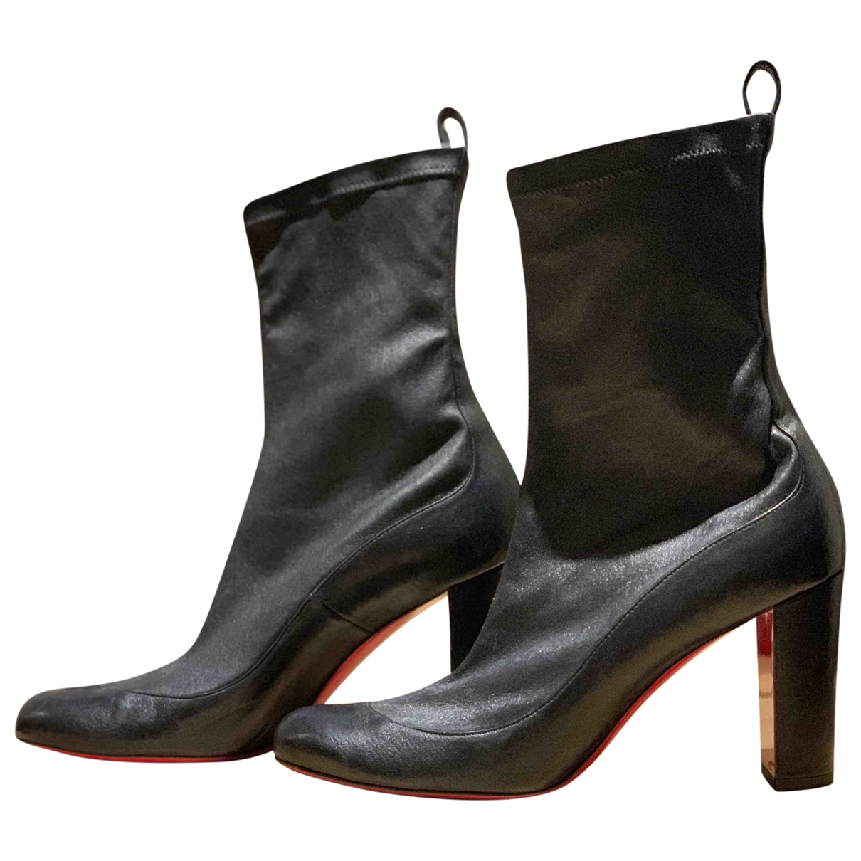 Christian Louboutin \N Black Leather Ankle boots for Women 37.5 EU