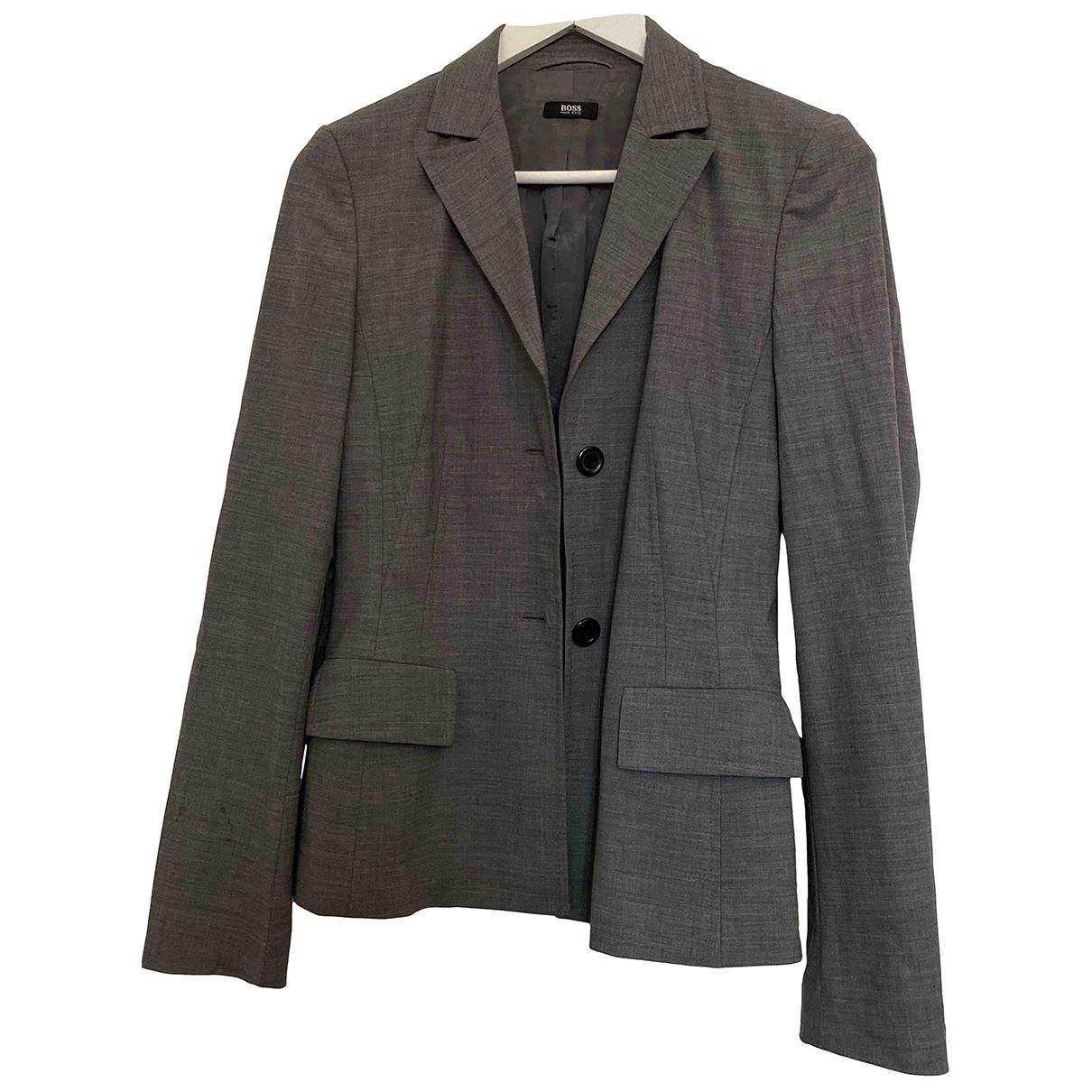 Boss \N Grey Wool jacket for Women 36 FR