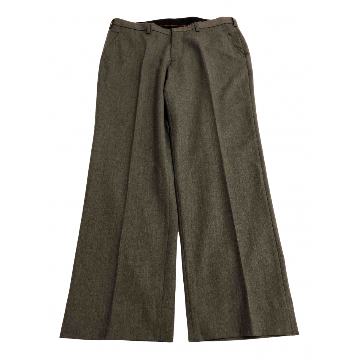 Non Signé / Unsigned \N Grey Wool Trousers for Men 46 IT