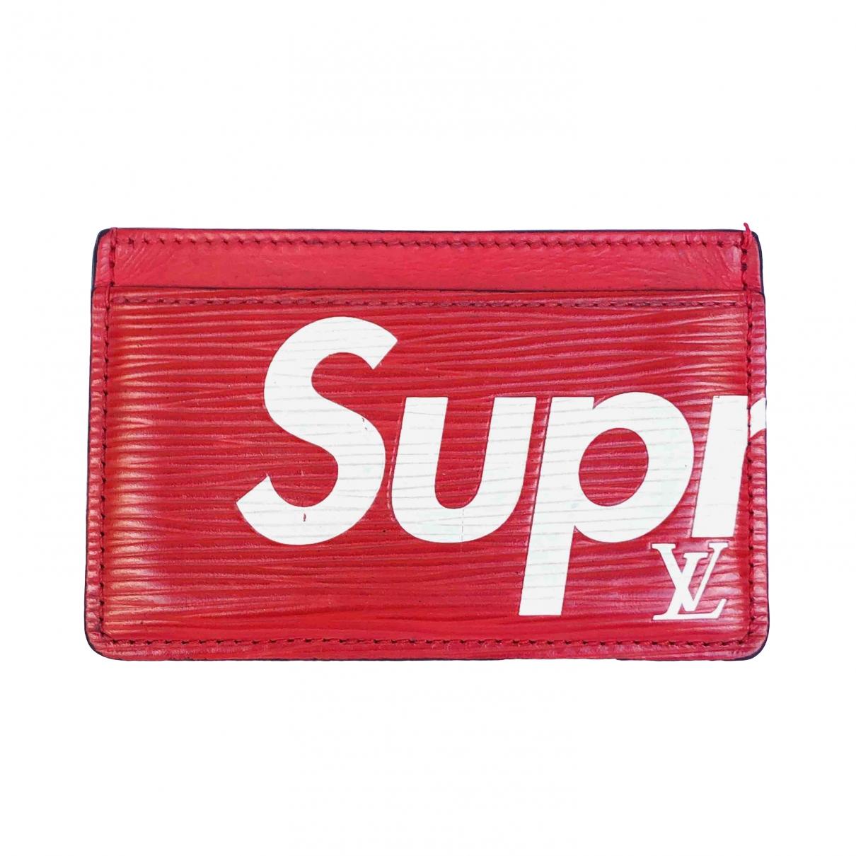 Louis Vuitton X Supreme \N Kleinlederwaren in  Rot Leinen
