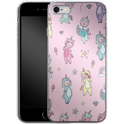 Apple iPhone 6s Silikon Handyhuelle - Piggy Unicorns von Chan-chan