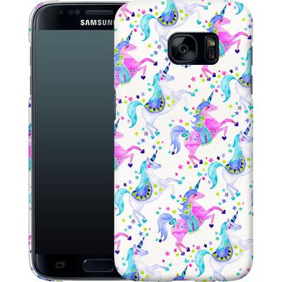 Samsung Galaxy S7 Smartphone Huelle - Unicorns Pastel von Cat Coquillette