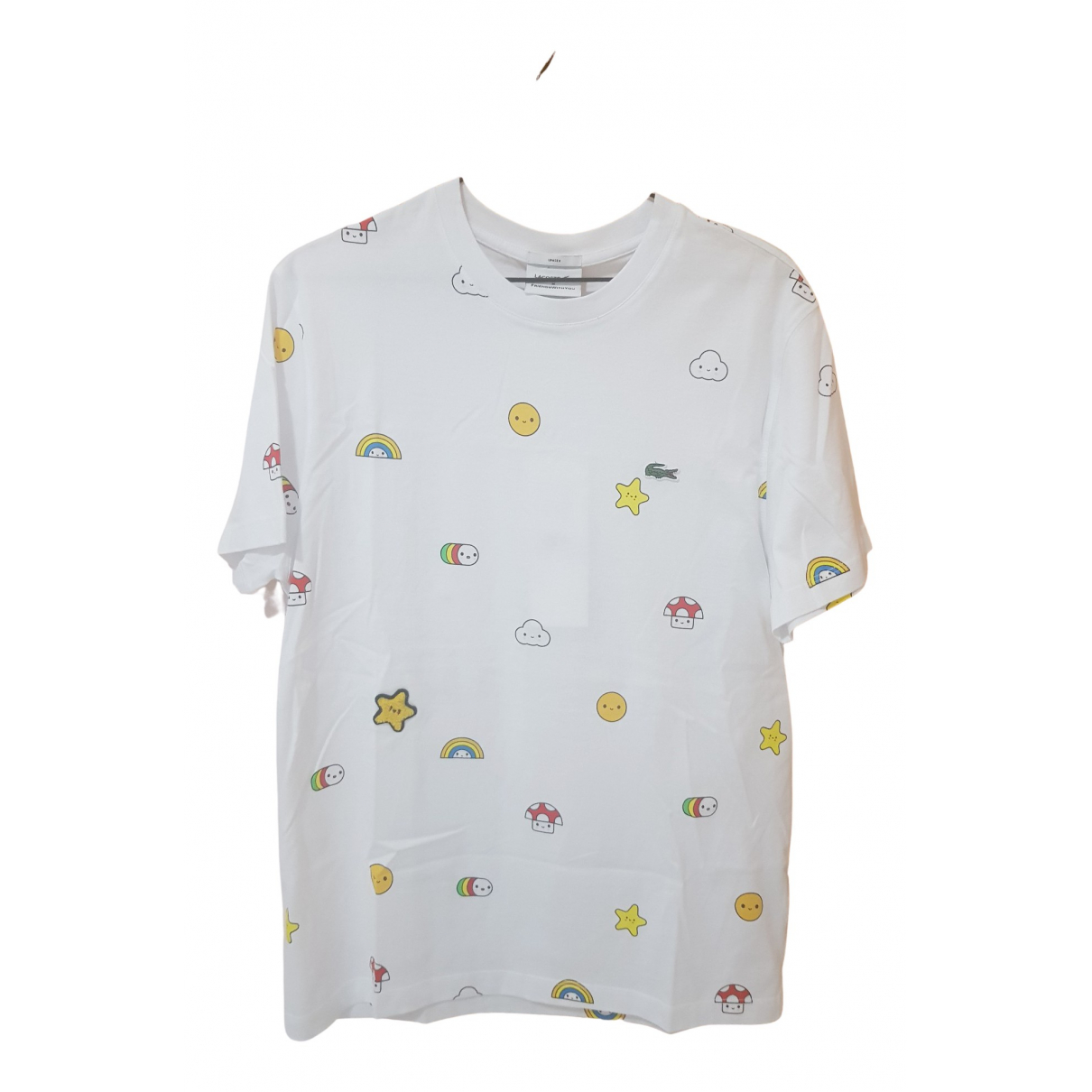 Lacoste N White Cotton  top for Women M International