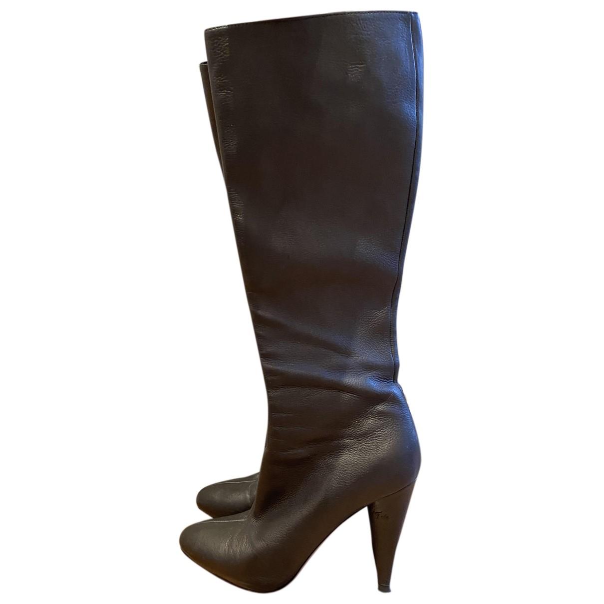 Prada \N Stiefel in  Metallic Leder