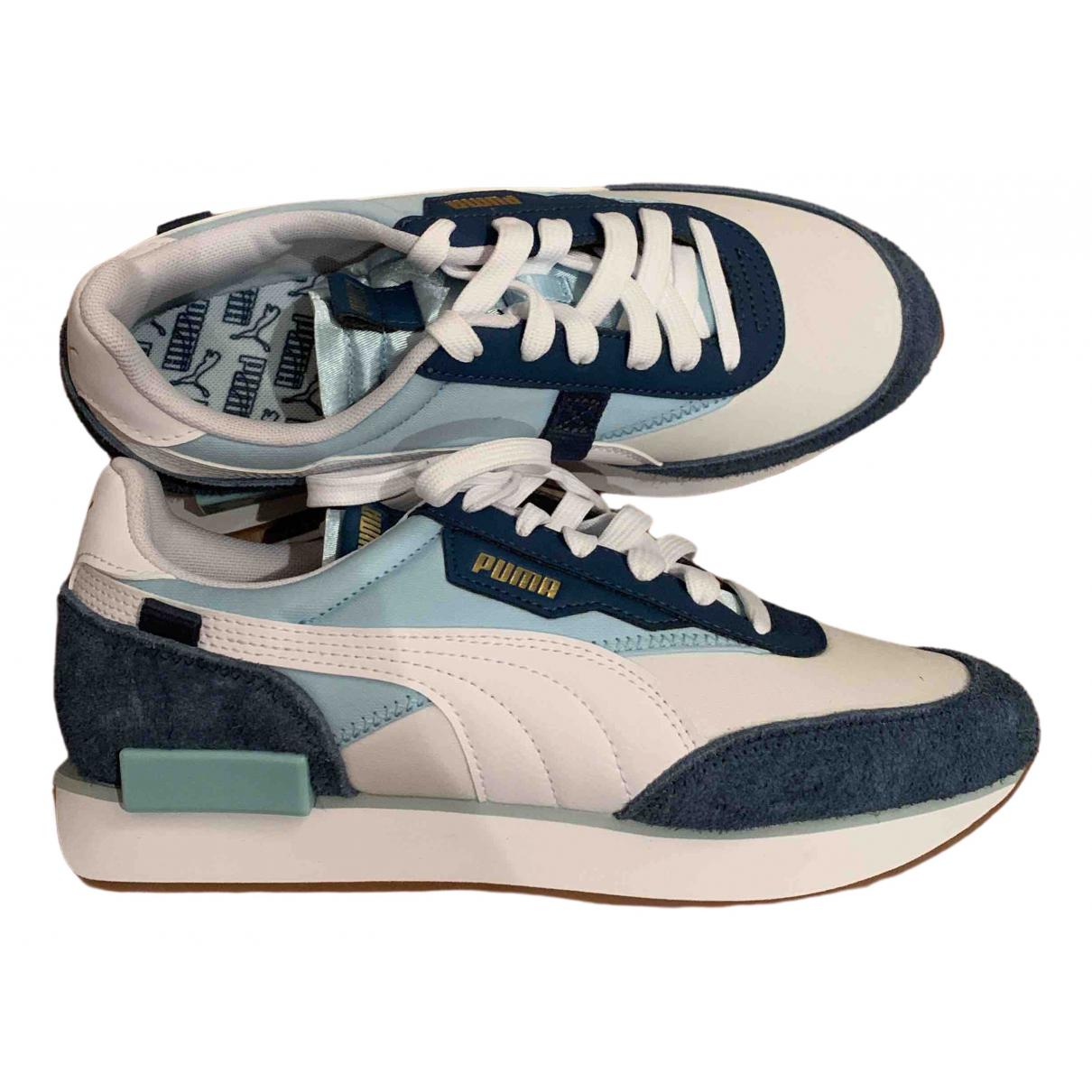 Puma - Baskets   pour femme en cuir - bleu