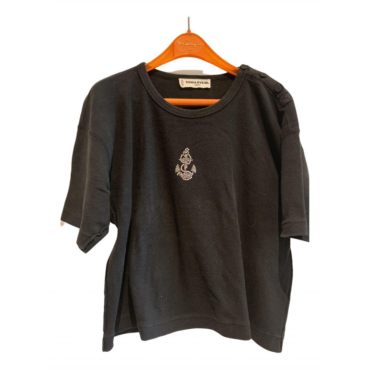 Sonia Rykiel \N Black Cotton  top for Women 40 FR